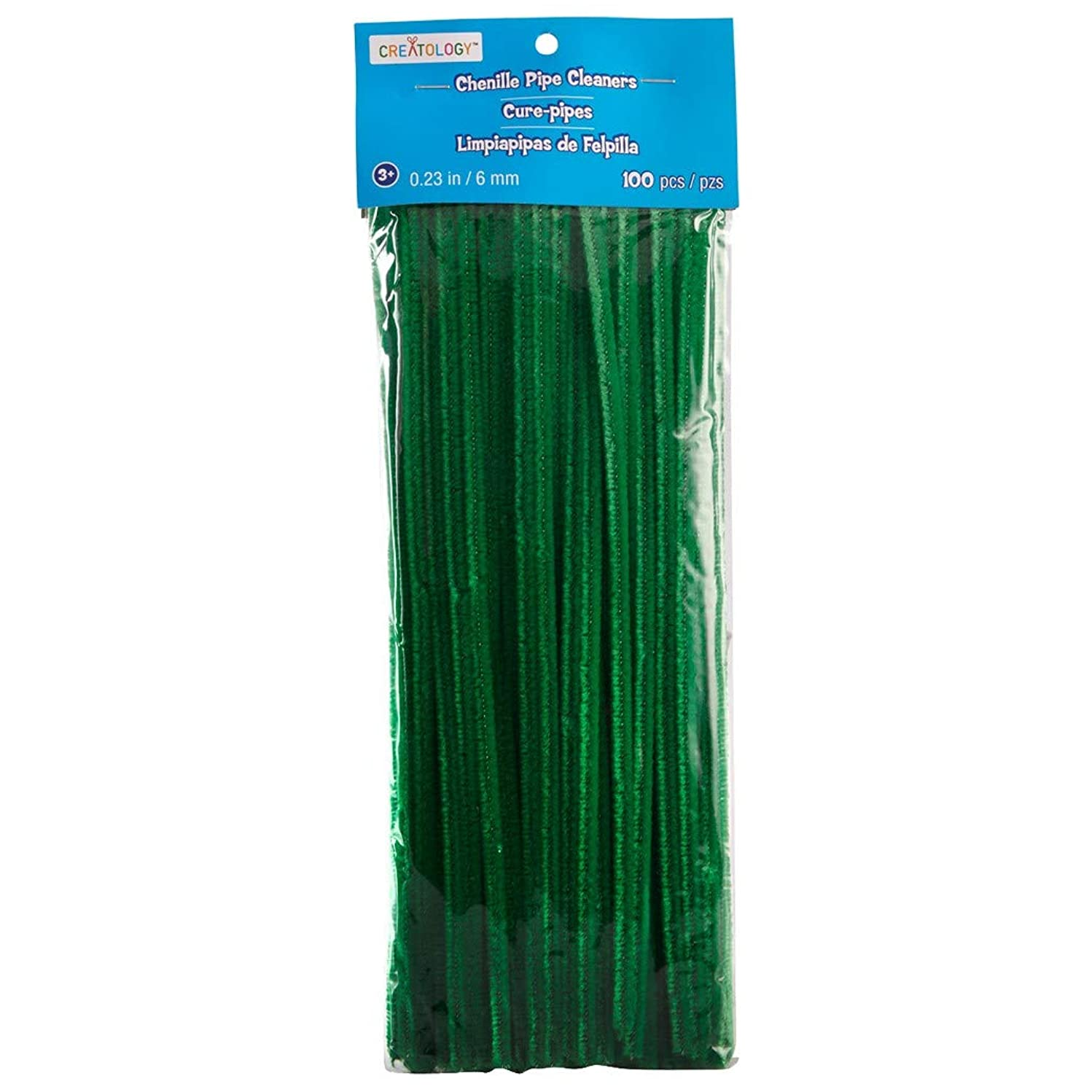 Green Chenille Stems Crafting Pipe Cleaners (100 pc)