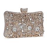 Tanpell Womens Crystal Evening Clutch Bag Wedding Purse Bridal Prom Handbag Party Bag Cham...