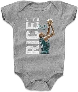 500 LEVEL Glen Rice Baby Clothes & Onesie (3-6, 6-12, 12-18, 18-24 Months) - Vintage Charlotte Basketball Baby Clothes - Glen Rice Vertical