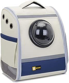 犬のバックパックキャリア スペース カプセル ナップザックバブル スポーティー ペットトラベルバックパック、通気性 承認された航空会社 猫用子犬用 36 * 25 * 43 cm
