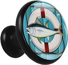 Fish Life Boei Zwart Kabinet Knoppen Trekt Ronde Kristal Glas Metalen Knoppen voor Dressoir Laden Kast Deur Badkamer Kaste...