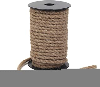 Jute Rope 50 Feet Thick and Strong Natural Jute Twine for Gardening Bundling Camping Decorating