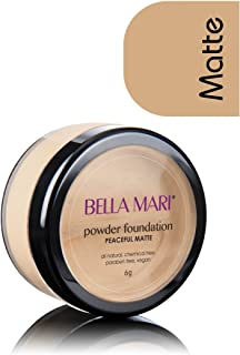 Bella Mari Natural Mineral Powder Foundation, Peaceful (Neutral); 0.2oz