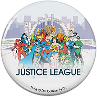 Justice League Hall of Justice Pinback Button Pin Badge
