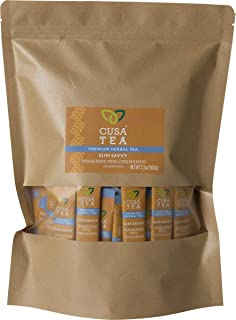 Cusa Tea: Slim Savvy Herbal Tea - Caffeine Free - Tangerine Peel & Cinnamon for Detox, Metabolism Support - No Sugar, Arti...