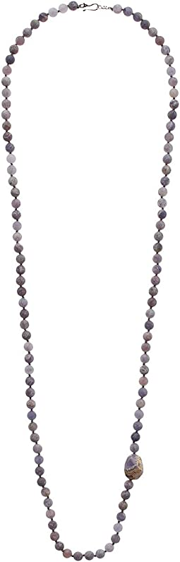 Long Layering Matte Iolite Necklace