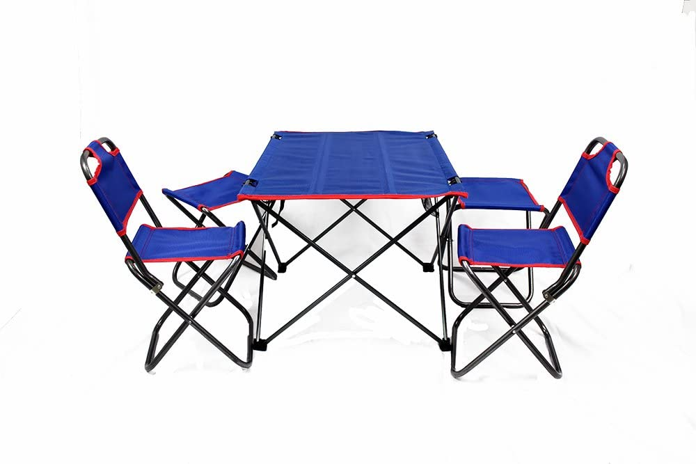 Amazon Com Outdoor Folding Table Chairs Set Kitchen Dining
