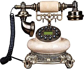 European Retro Old-Fashioned Telephone Button Dial Home Office Fixed-Line Landline Phone Retro Landline