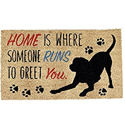 Coir Doormat. Home Is Where Someone Runs To Greet You.
