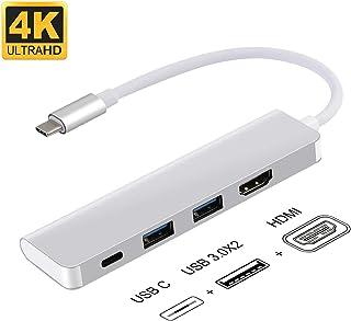 USB C ハブ ibosi cheng ドッキングステーション 4K ハブ USB3.0/HDMI/TYPE C ポートMacBook/ChromeBookなどに対応 (4in1)