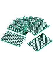 Zyyini Placa de Circuito Impresa Universal PCB de Doble Cara de Prototipo 10pcs 4 x 6 cm