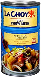 La Choy, Beef Chow Mein with Vegetables, 42oz Can (Pack of 3)