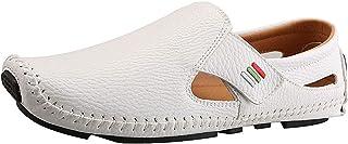 rismart Men's Driving Slip on Moccasin Comfy Shoes Loafer Flats