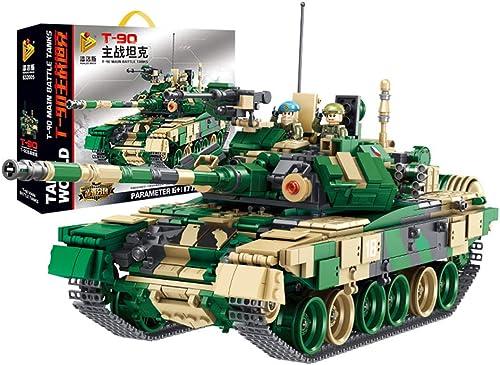 Yyz Military Series Russische T90 Kampfpanzer milit sche Bausteine  uzzle Montage Zauber Einsatz Spielzeug Geburtstagsgeschenk