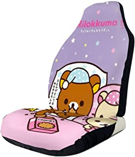 RachelReichert Rilakkuma Imported Car Seat Cover, Car Interior Car Seat Cover for Most Cars, Cars, SUVs, Vans2 PCS