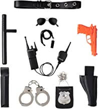 Ultimate All-In-One Police Accessory Role Play Set For Kids – Includes Gun, handcuffs, police badge and More, Durable Plastic Construction, Police Force Halloween Accessories For Kids