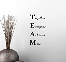 Simple Expressions Arts Wall Vinyl Decal Team Together Everyone Achieves More Classroom Sport Football Cute Inspirational Family Love Vinyl Quote Saying Wall Art Lettering Sign Room Decor