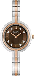 Ladies' Bulova Rhapsody Diamond Rose Gold -Tone and Stainless Steel Watch 98P194