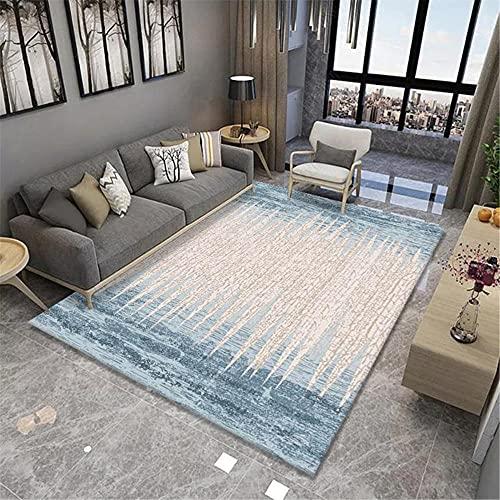 IRCATH Patrón de Costura Arte de Moda Simple Antideslizante Accesorios para el hogar sofá Sala de Estar Sala de Estar alfombra-120x180cm Resistente y Duradera Resistente a la presió