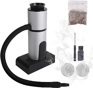 WMLBK Smoking Gun Mini rookapparaat, draagbaar rookpistool handrokerpistool voor de keuken, smoking set met gehakte pitter...