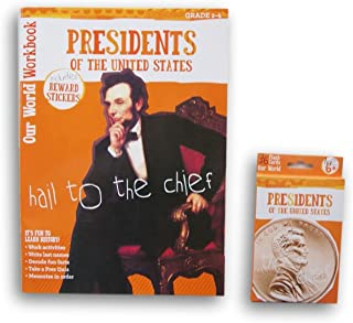 Presidents of the United States Discovery Workbook with Reward Stickers and Flash Card Bundle - Grades 2-4 - 2017 Edition