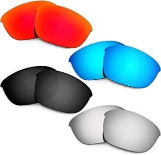 Hkuco Plus Mens Replacement Lenses For Oakley Half Jacket 2.0 Red/Blue/Black/Titanium Sunglasses