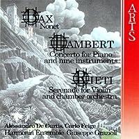 Constant Lambert: Concerto for Piano & 9 Instruments (1931) / Sir Arnold Bax: Nonet (1931) / Vittorio Rieti: Serenata for Violin & Small Orchestra (1931) - Harmonia Ensemble (1997-11-18)
