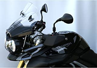 MRA X-Creen Tour Windshield for Triumph Tiger 800 & Tiger 800XC '11- (Smoke Gray)