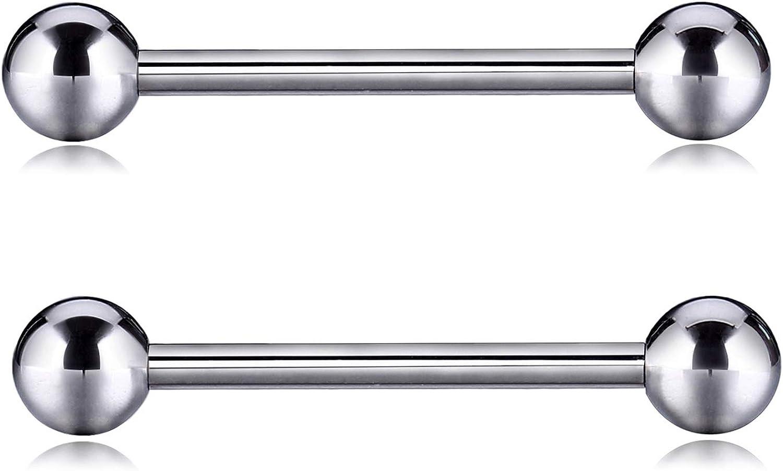 Rare PEAKLINK G23 Tampa Mall Titanium Nipple Barbell Body Straight 14 Gauge Bar