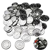 BESTZY 100 Piezas Monedas Pirata Monedas Plata plástico Juguete...