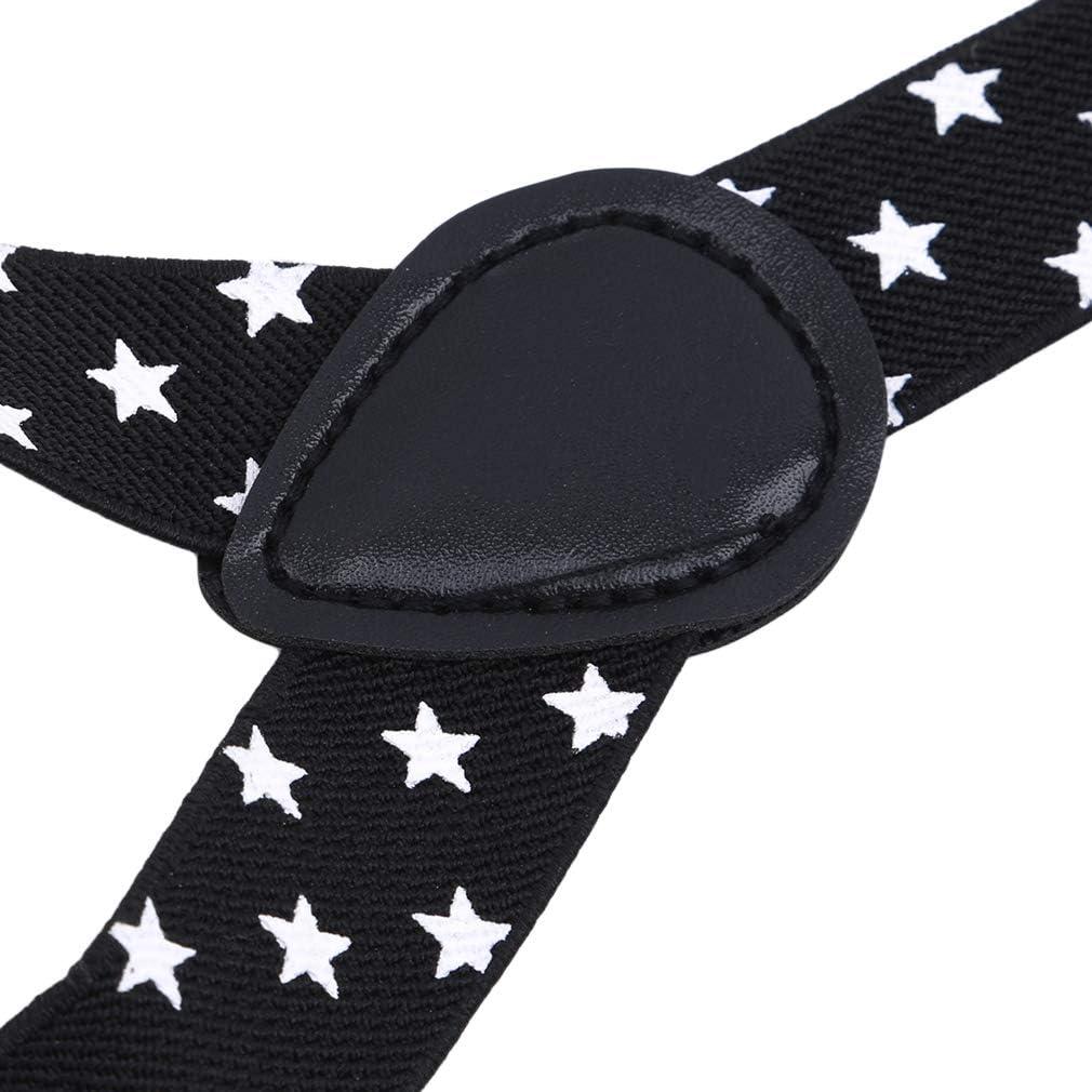 GloryMM Pentagram Y Back Suspenders Clip Adjustable Clip On Trousers Elastic Metal Clips