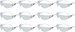 ABN Clear Safety Glasses Protective Eyewear 12-Pack in Clear – UV Protective Transparent Lens Protective Glasses
