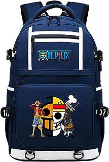 One Piece Parallel Bars Monkey·D·Luffy con USB Mochila para portátil de Negocios Unisex Backpack Profesional-C