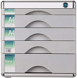 KANJJ-YU Tiroir de bureau Sorter verrouillables en alliage d'aluminium de bureau de stockage des données confidentialité T...