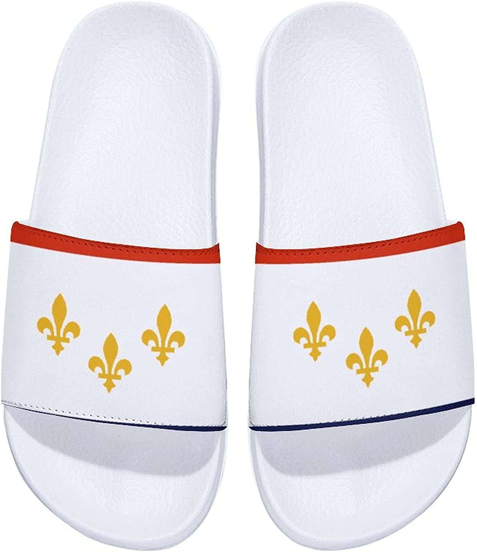 New Orleans Flag National Emblem Men's and Women's Comfort Slide Sandals Indoor Outdoor