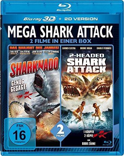 Mega Shark Attack - Sharknado/2-Headed Shark Attack  (inkl. 2D-Version) [3D Blu-ray]