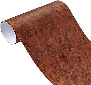 Carbon Fibre Wrap 50x200cm Wood Grain Vinyl Film Furniture Wood Grain Textured Decal Car Internal Self-adhesive Sticker Ca...