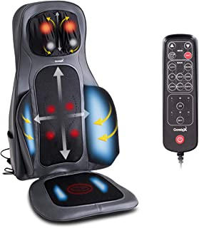 Giantex Shiatsu Neck and Back Massager with Heat, Full Back Kneading 3D Shiatsu or Rolling Massage, Relieve Muscle Pain for Back Shoulder and Neck, Massage Chair Pad with Hand Controller