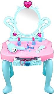 ままごと ドレッサー おもちゃ 姫系 子供 女の子 FlyCreatコスメ メイクアップセット ごっこ遊び おもちゃドレッサー キッズ 知育玩具 女の子 小さい化粧台 女の子メイクゲームセット鏡台 お誕生日プレゼント