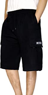 DREAM USA Men's Heavyweight Fleece Cargo Shorts
