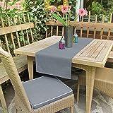 Delindo Lifestyle Tischläufer Samba, anthrazit, 40x140 cm, Fleckschutz, abwaschbar, für Indoor und Outdoor - 2