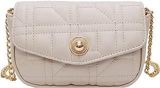 Fashion Women's Bags PU(Polyurethane) Crossbody Bag Chain Solid Color Beige/Yellow/Khaki Precision Stitching (Color : Beige)