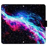 Xperia 1 III A101SO ケース [デザイン:l.NGC6960/マグネットハンドあり] 宇宙柄 xperia1iii エクスペリア1 マーク3 a101so 手帳型 スマホケース スマホカバー 手帳 携帯 カバー