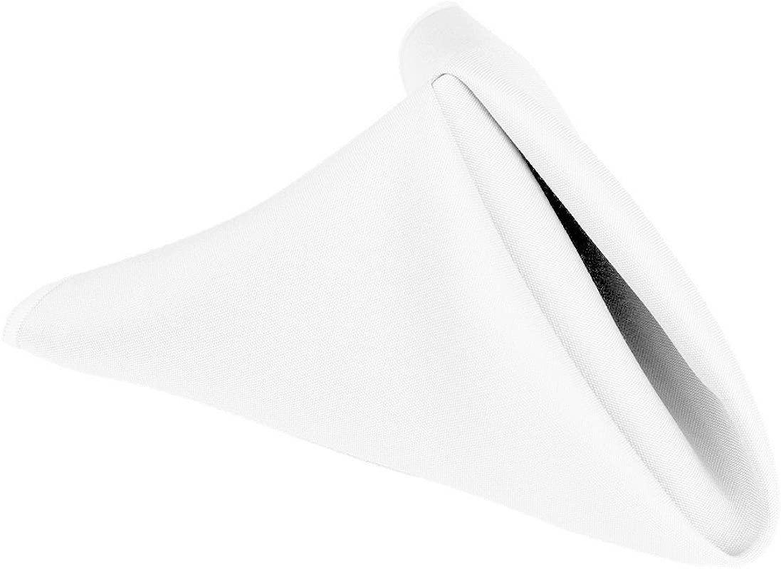 Craft And Party 1 Dozen 17 100 Polyester Napkin White