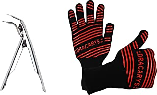 Smoking Tool Set Grill Grate Lifter Gripper Oven Glove Heat Resistant,Grill Cooking Gloves grill heat aid gloves For Big Green Egg,Napoleon Gas Grill,Weber Kettle Grill Smokey Joe Parts replacement
