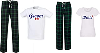 60 Second Makeover Limited Bride and Groom Couples Matching Pyjama Tartan Set Couples Twinning Family