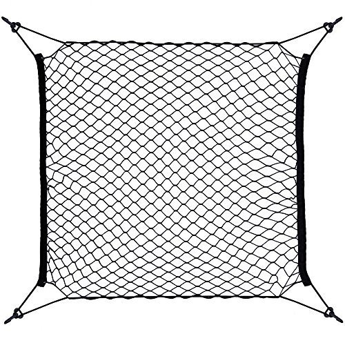 Yizhet 4 Hooks Car Trunk Cargo Net Mesh Storage Organizer - Car Net for Kids Luggage - Universal Car Accessories Net 70 * 70cm