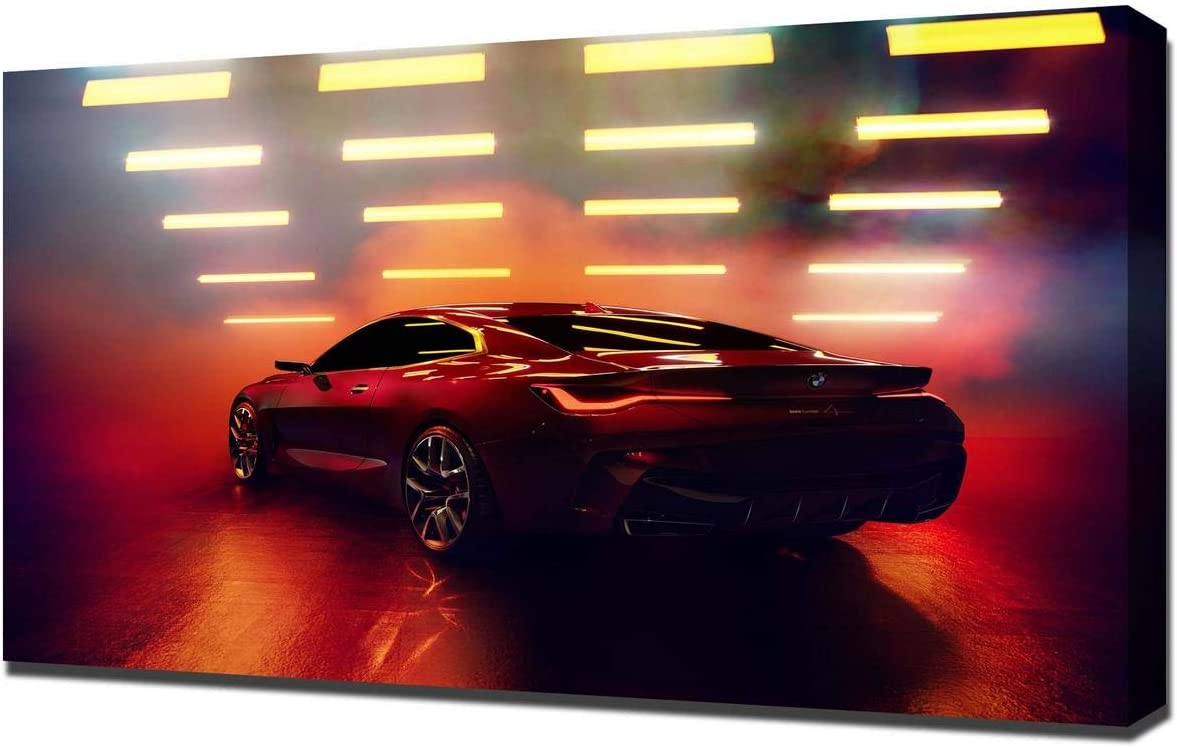 Lilarama (Compatible with 2019-BMW-Concept-4-V2- Art Leinwandbild – Kunstdrucke – Gemälde Wandbilder