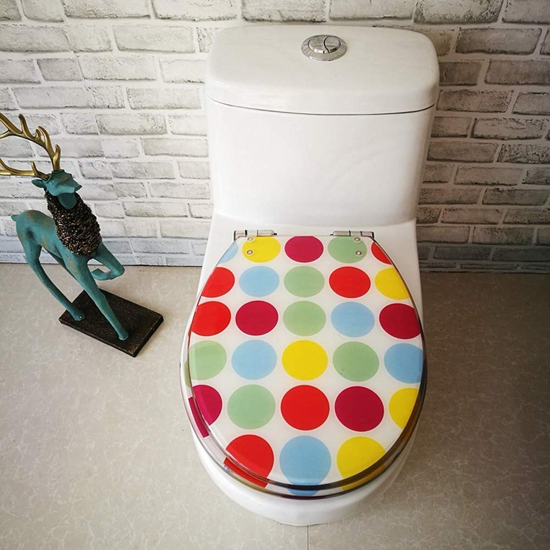 BJYG Sitz WC-Sitz, Kunstharz-WC-Deckel normaler WC-Deckel universal altmodisch Dicker Edelstahl absteigend schnelles Scharnier