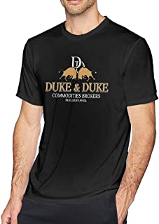 Pzenwts Duke & Duke Commodities Brokers Popular Tee,Fashion Men's Personality Cool Soft T-Shirt